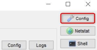 XAMPPのコントロールパネルのconfigを選択