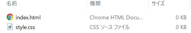 htmlとcssが同じ階層
