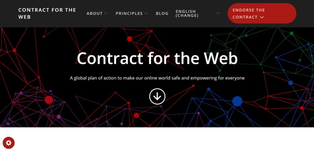 Contract for the Webの公式サイト